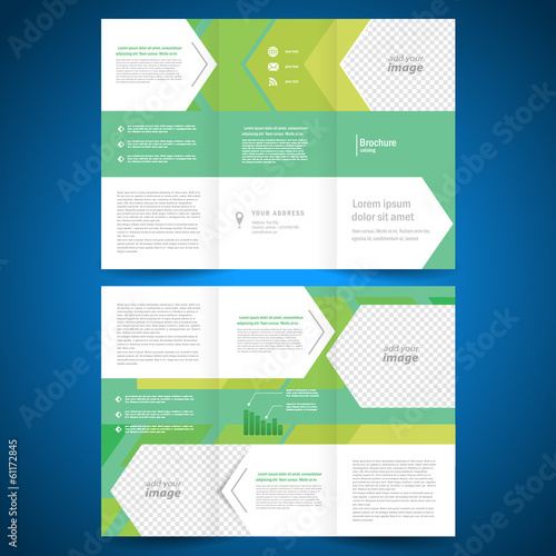brochure folder geometric abstract element arrow