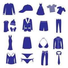 clothing icon set eps10