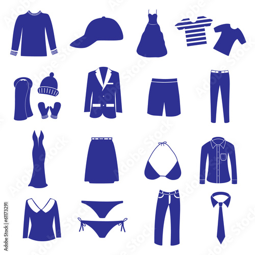 clothing icon set eps10