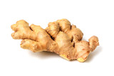 Ginger root isolated on white background