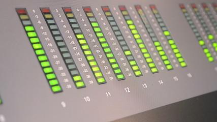 audio control panel, led signal record