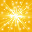 Bright sunburst with sparkles