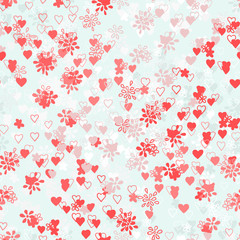 seamless flowers and hearts