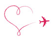 Heart shaped icon in air, made by plane - 61175030