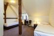Big warm hotel bedroom