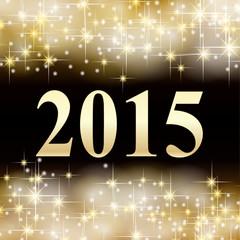 2015 Silvester Hintergrund Sterne gold