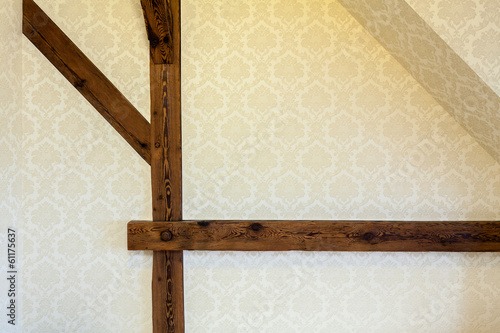 Structural beams on wall