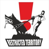 Dog - sexy girl restricted territory, icon, vector