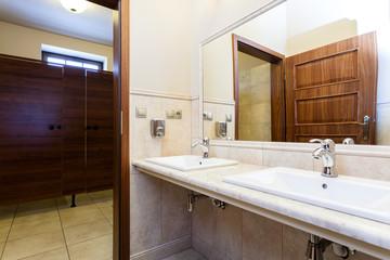 Modern elegant luxury public toilet