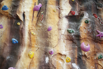 the image of an Artificial climbing wall