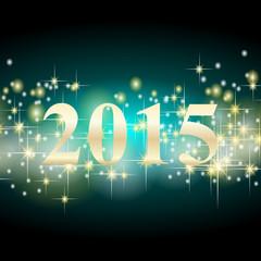 2015 sterne Hintergrund türkis