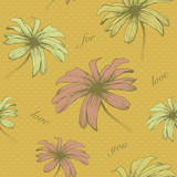Vector floral seamless pattern . Hand drawn. eps8