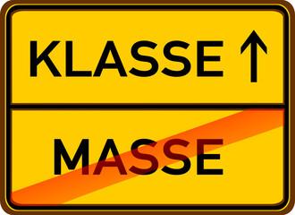 Klasse statt Masse