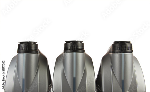 roup of lubricants bottles
