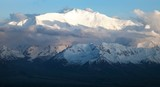 Evening view of Lenin Peak from Alay range