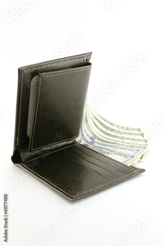 Wallet with many dollars