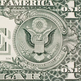 Great seal on one dollar bill