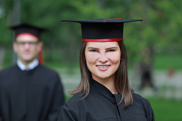 Portrait of a Young Woman in the Graduation Day