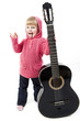 little girl with a guitar