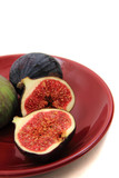 fresh figs on the plate
