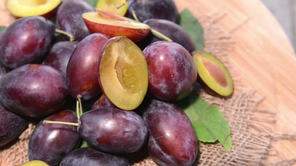 Portion of rotating Plums