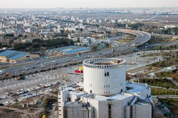 Aerial view of suburbs of Mashhad, Iran
