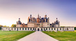 The royal Chateau de Chambord in the evening, France