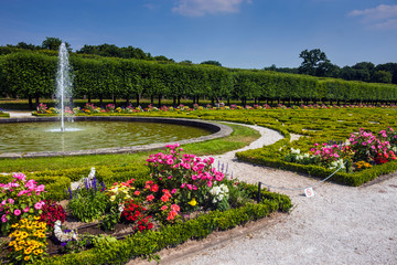 Garden of the chateau in Bruhl