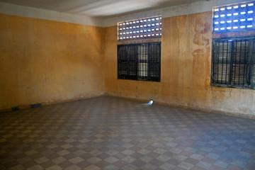 Cell in Tuol Sleng  (S21) Prison, Phnom Penh, Cambodia