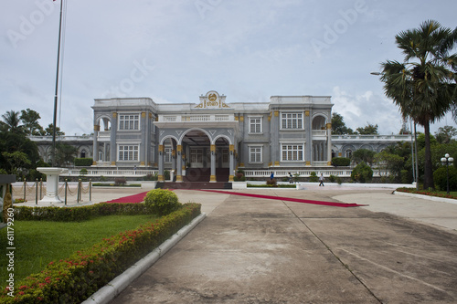 Presidential palace in Vientiane, Laos