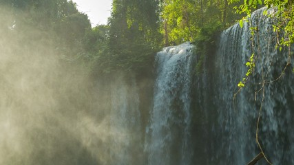 Big waterfall in Phnom Kulen National Park