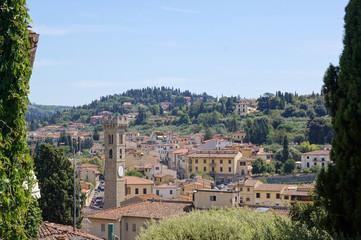 Vue générale de la ville de Fiesole
