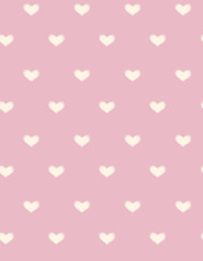 Vector seamless hearts pattern, blurred, soft effect.