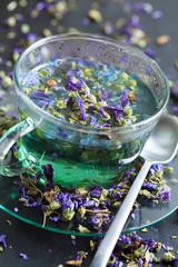 Mallow flowers infusion - infuso di malva