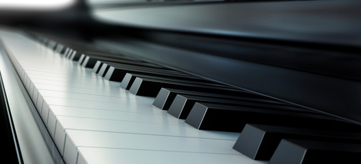Piano keys black and white