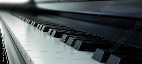 Piano keys black and white - 61179866