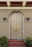 Upscale Home Arched Closed Front Doors