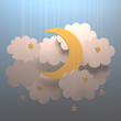 Moon cloud. Your text on clean space.