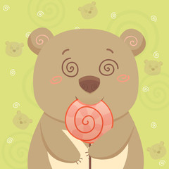 Bear with candy