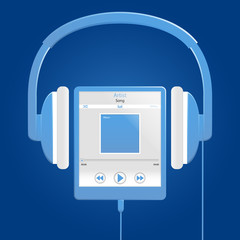 blue digital music player