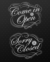 Image of various open and closed business