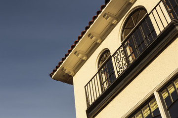 Detail of upscale home with balcony