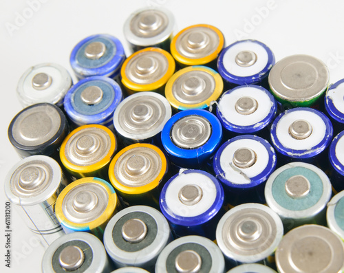 Used rechargeable batteries