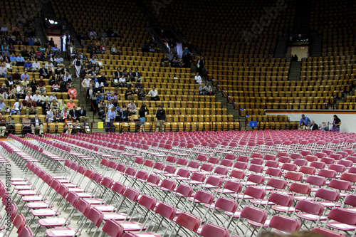 Empty auditorium before graduation ceremoney