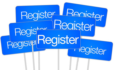 Register for social media buttons