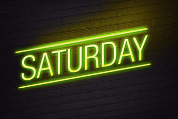 Saturday neon sign
