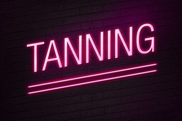 Tanning parlour neon sign