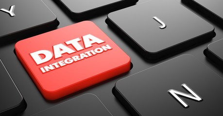 Data Integration on Red Keyboard Button.