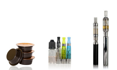 Coffee capsules and electronic cigarette