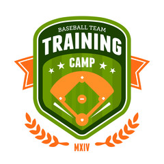 Baseball training camp emblem